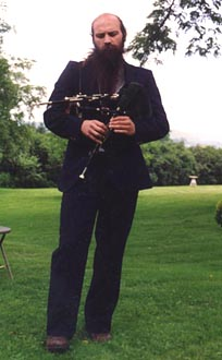 Dick playing Northumbrian pipes