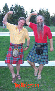 Dick with Irish piper Martin Nolan at Celtfest, Vancouver Island